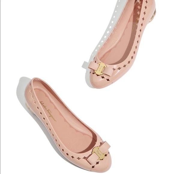 c8496d28fc4a8 Salvatore Ferragamo Shoes | Flower Heel Jelly Ballet Flat Guc | Poshmark